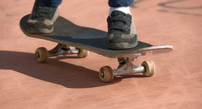 Skateboard. A young sakating with his skateboard Royalty Free Stock Image