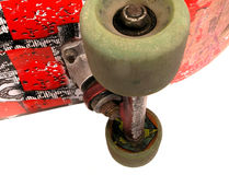 Skateboard. Close up of old skateboard Royalty Free Stock Images