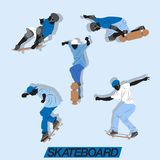 Skateboard Action Vector Set Royalty Free Stock Photo