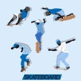 Skateboard Action Vector Set Royalty Free Stock Photo