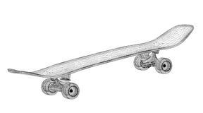 Skateboard auf Hintergrund Stockfotos