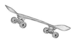 Skateboard auf Hintergrund Stockfotografie