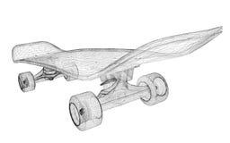 Skateboard auf Hintergrund Lizenzfreies Stockfoto