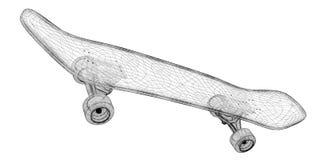 Skateboard auf Hintergrund Stockfoto