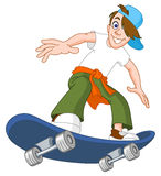 Skateboard boy Royalty Free Stock Images