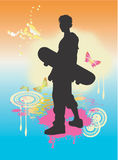 Skateboard boy Stock Photography