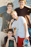 Skateboard boys Royalty Free Stock Image