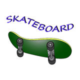 Skateboard. Cartoon  illustration  funny Royalty Free Stock Photo