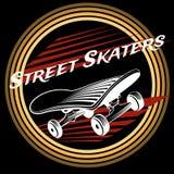 Skateboard in circle logo design Stock Photography