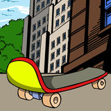 Skateboard in the city Stock Photo
