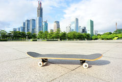 Skateboard at city Royalty Free Stock Photography