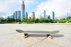 Skateboard at city Royalty Free Stock Photography