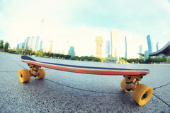 Skateboard on city Stock Photo