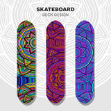 Skateboard colorful designs Royalty Free Stock Photos