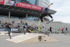 Skateboard. Competition for skateboard ,Sport extreme festival Minsk Street Gamez, May, Minsk, 2015 royalty free stock images