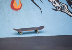 Skateboard in the concrete park Royalty Free Stock Image