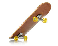 Skateboard deck on white background Stock Photos
