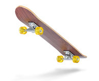 Skateboard deck on white background. Royalty Free Stock Photography