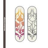 Skateboard Design Abstract Mushroom Five Royalty Free Stock Image