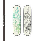Skateboard Design Abstract Mushroom Four Royalty Free Stock Images