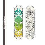Skateboard Design Abstract Mushroom One Stock Image