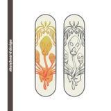Skateboard Design Abstract Mushroom Three Stock Photo