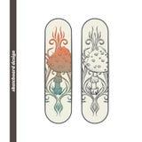 Skateboard Design Abstract Mushroom Two Stock Photography