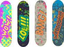 Skateboard design Stock Image