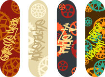 Skateboard design Royalty Free Stock Image