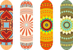 Skateboard designs Stock Photography
