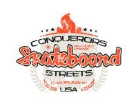 Skateboard emblem  for t-shirt Stock Image