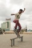 Skateboard fahren in Addis Lizenzfreies Stockfoto