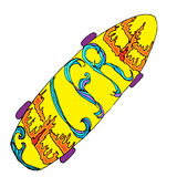Skateboard with feel free decoration Royalty Free Stock Photos