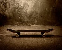 Skateboard on floor Royalty Free Stock Photography