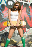 Skateboard Girl Stock Photography