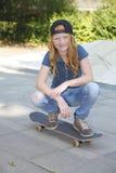Skateboard girl Royalty Free Stock Photos