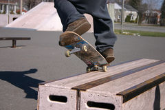 Skateboard grind Royalty Free Stock Photography