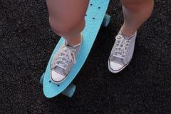 Skateboard on the ground Stock Photos