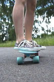 Skateboard i handling Royaltyfria Foton