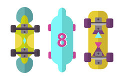 Skateboard icon extreme sport sign vector illustration. Stock Images