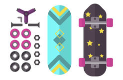 Skateboard icon extreme sport sign vector illustration. Royalty Free Stock Photos