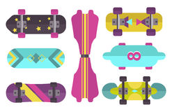 Skateboard icon extreme sport sign vector illustration. Stock Photos