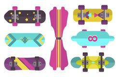 Skateboard icon extreme sport sign vector illustration. Stock Photos