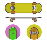 Skateboard icons. Vector Illustration of skateboard icons Stock Image