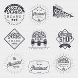 Skateboard - insignia, badge, label, sign, print, stamp, can be used in the design Royalty Free Stock Image