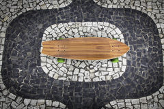 Skateboard on Ipanema mosaic Stock Photo