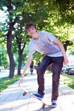 Skateboard jump Royalty Free Stock Images