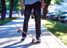 Skateboard jump Royalty Free Stock Photography