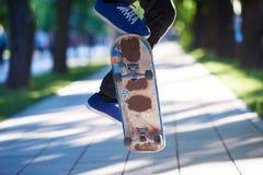 Skateboard jump Stock Photography