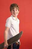 Skateboard kid vertical Royalty Free Stock Images